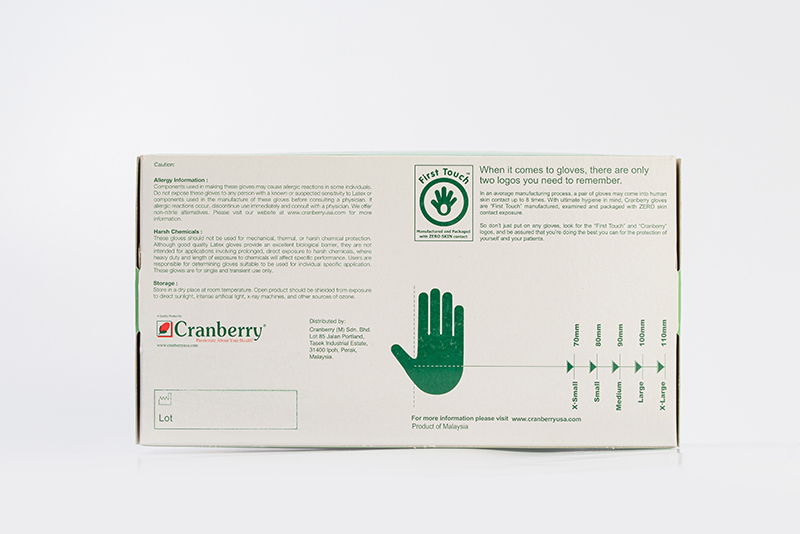 Crabberry Latex Gloves