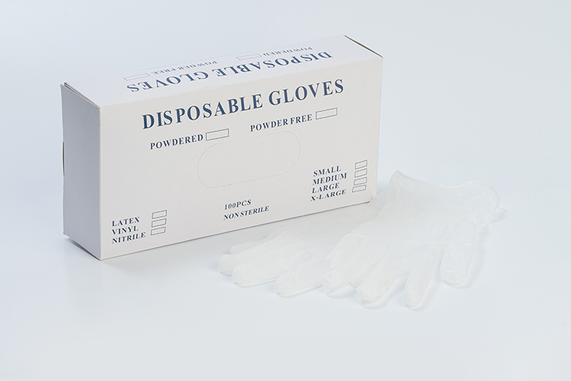 Vinyl Surgical Gloves-Clear/Xlarge