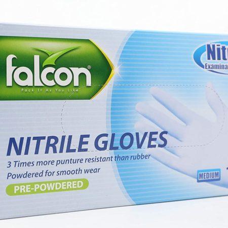 Falcon Pre-Powdered Nitrile Gloves
