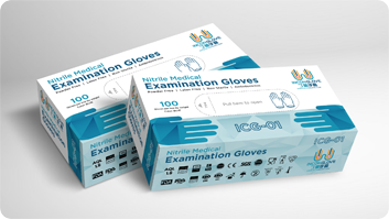 InconGloves Disposable Nitrile Examination Gloves.